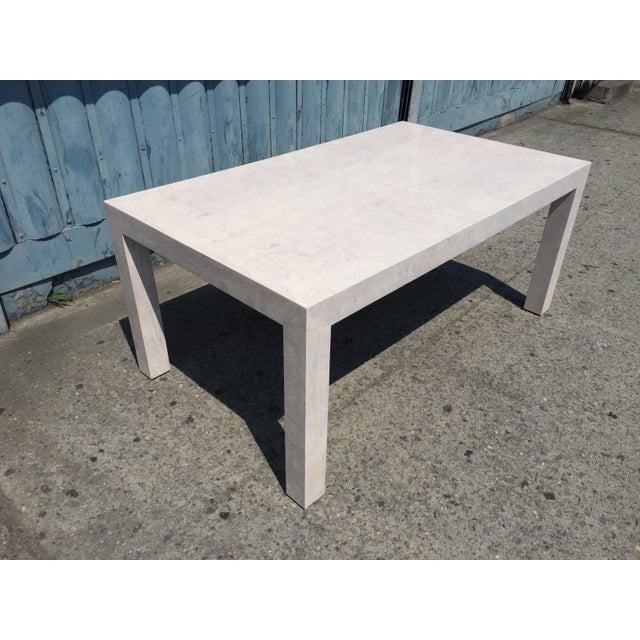 Mid-Century Modern Whitewashed Milo Baughman Dining Table For Sale - Image 3 of 8