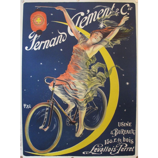 French Fernand Clement Bicycle Poster Art Print For Sale