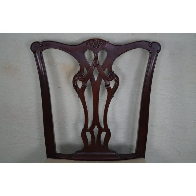 Antique Chippendale Style Eagle Needlepoint Side Chair For Sale In Philadelphia - Image 6 of 10