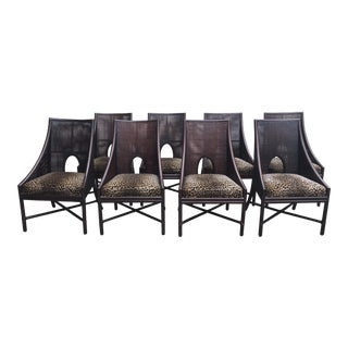 McGuire Barbara Barry Caned Dining Room Chairs- Set of 8 For Sale