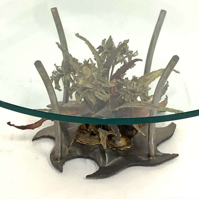 Silas Seandel Silas Seandal Studio Brutalist Bloom Welded Bronze, Steel, & Copper Coffee Table For Sale - Image 4 of 13