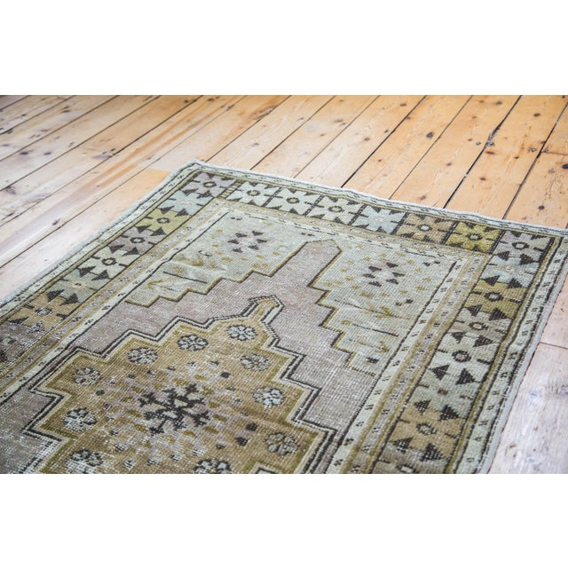 "Distressed Oushak Rug Runner - 3'5"" x 5'9"" - Image 5 of 5"