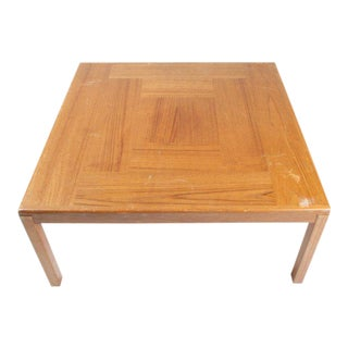 Danish Bent Silberg Mobler Teakwood Coffee Table, Circa 1960