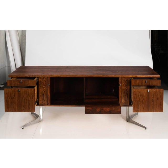 Midcentury Rosewood Credenza For Sale - Image 9 of 11