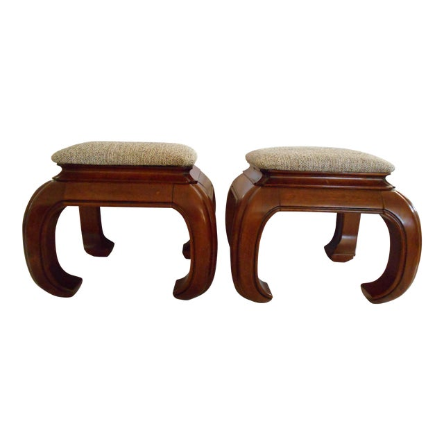 Ming Style Ottomans - A Pair For Sale