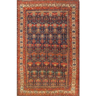 Pasargad N Y Antique Persian Bidjar Hand-Knotted Rug - 7′2″ × 11′2″ For Sale
