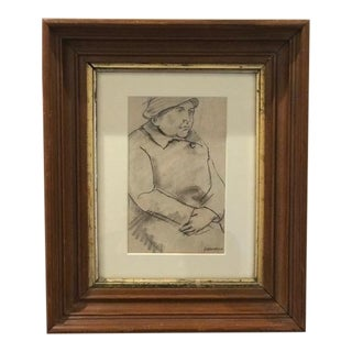 Profile of Woman Drawing by Aurelio Yammerino For Sale