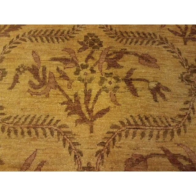 Contemporary Kafkaz Peshawar Coralee Gold & Purple Wool Rug - 8'10 X 12'0 For Sale - Image 3 of 7