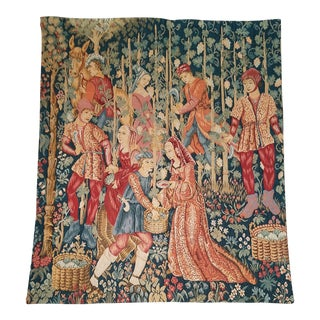 French Jacquard Wall Tapestry For Sale