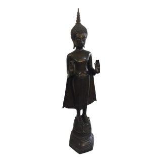 Thai Buddha Bronze Statue For Sale