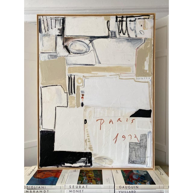 """Josh Young Design House """"Paris, 1932"""" Framed Painting For Sale In Chicago - Image 6 of 6"""