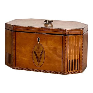 1790 English Satinwood Tea Caddy For Sale