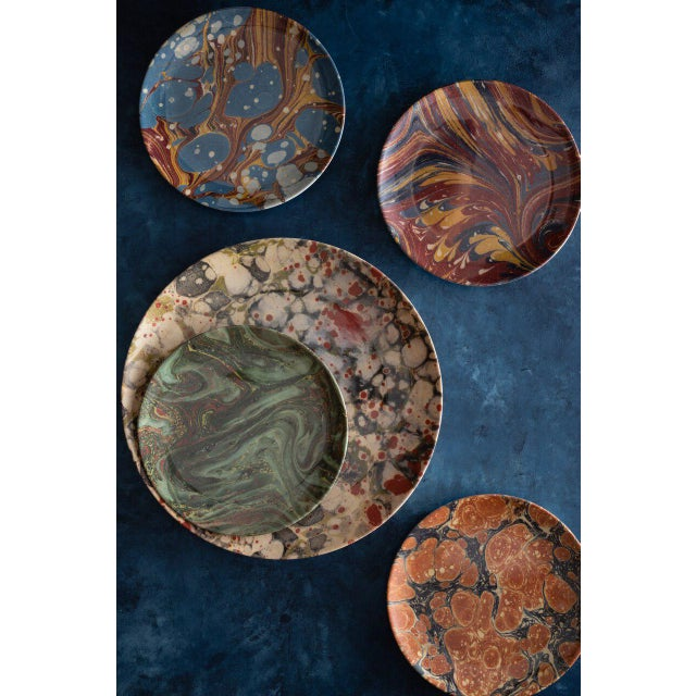 Library Marble Side Plates - Set of 4 For Sale In New York - Image 6 of 8