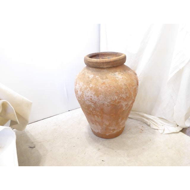 Late 19th Century Vintage Weathered Terra Cotta Garden Urn For Sale - Image 5 of 5