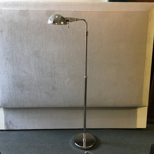 French Chrome Adjustable Floor Lamp - Image 2 of 10
