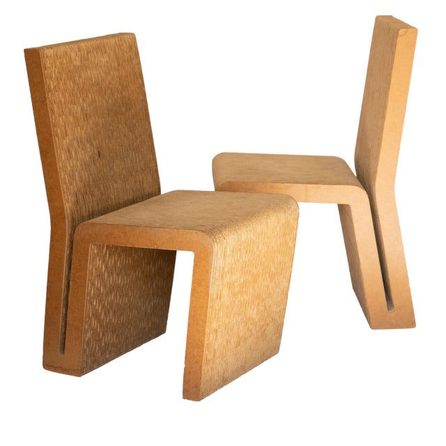 Easy Edges Cardboard Chair by Frank Gehry, Early 1970s Model For Sale