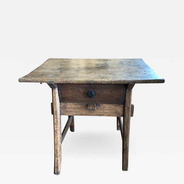 the latest 2faf2 5361b 18th Century Traditional Spanish Tavern Oak Side Table