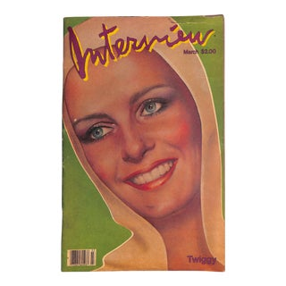 "Twiggy ""Interview Magazine"" For Sale"
