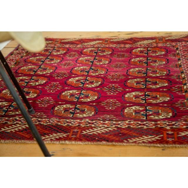 """Vintage Turkmen Square Rug - 3'4"""" X 3'4"""" - Image 5 of 8"""