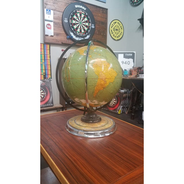 Cram's 1936 Deluxe Globe With Suns Rays For Sale - Image 10 of 10
