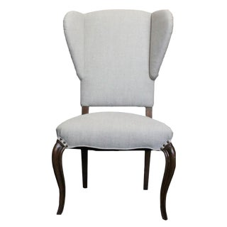 Armless Wingback Dining Chair For Sale