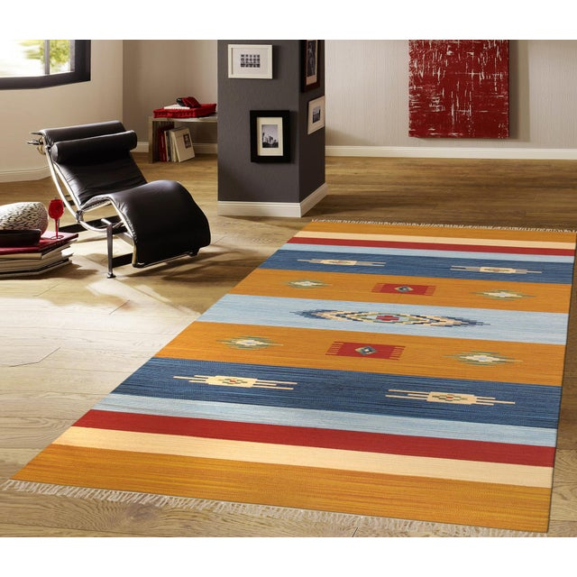 Anatolian Hand-Woven Cotton Rug - 4' X 6' For Sale - Image 4 of 4