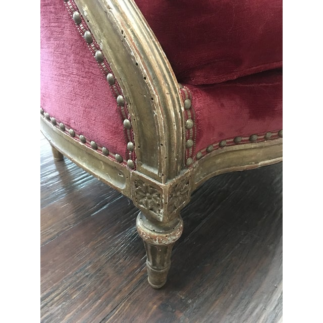 19th Century Gilt French Bergere For Sale In Dallas - Image 6 of 6