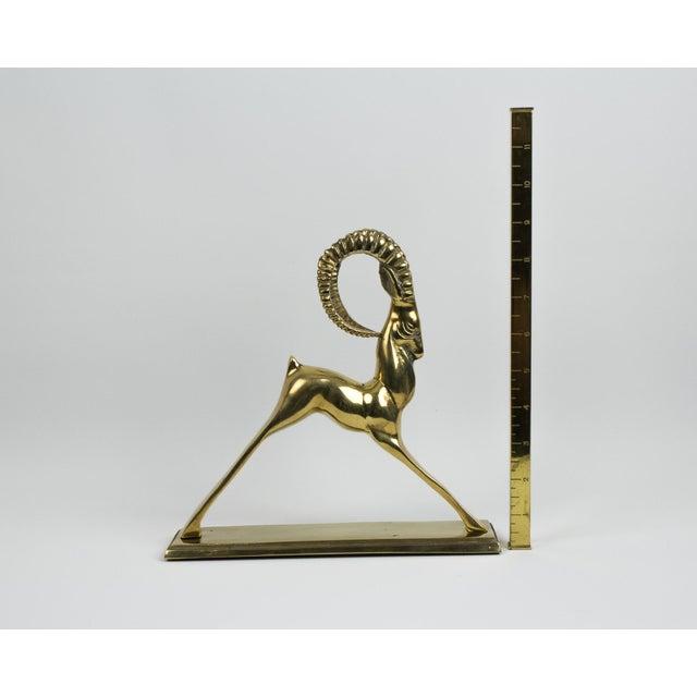 1970s Art Deco Brass Ram Figurine For Sale - Image 9 of 10