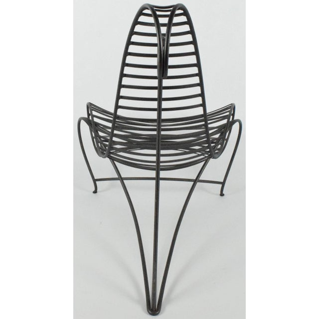 Black Early 20th Century Andre Dubreuil Iron Spine Chair For Sale - Image 8 of 8