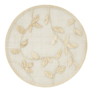 Straw Leaf Placemat, Natural For Sale