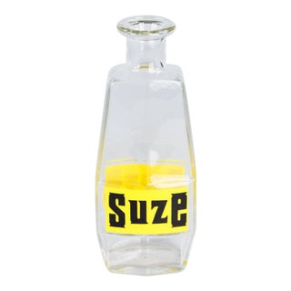 Mid 20th Century French Glass Carafe Advertising Suze Liqueur For Sale