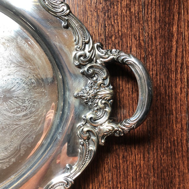 Large Silverplate Waiter Tray by Reed and Barton in their El Greco pattern. Nice, heavy weight tray. Lovely condition....