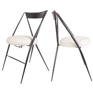 Pair of Mid-Century Modern Folding Chairs For Sale