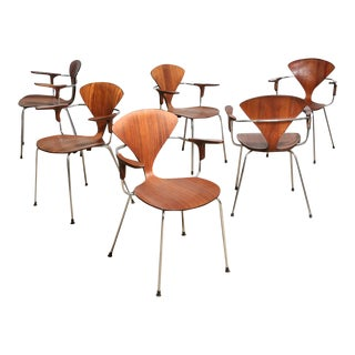 "Cherner Dining Chairs With ""Bernardo"" Label - Set of 6 For Sale"