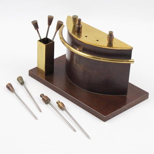 Art Deco 1940s Brass Miniature Bar Cocktail Picks For Sale - Image 4 of 8