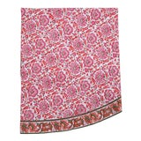 Image of Riyad Round Tablecloth - Pink & Orange For Sale