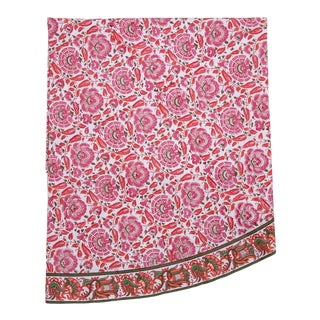 Riyad Round Tablecloth - Pink & Orange For Sale