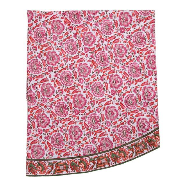 Riyad Round Tablecloth - Pink & Orange For Sale