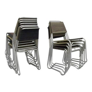 Aluminum Frame Canvas Stack Chairs by Jack Heaney - Set of 16 For Sale