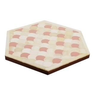 Casa Cosima Orchard Trivet Hexagon in Scallop Pattern For Sale