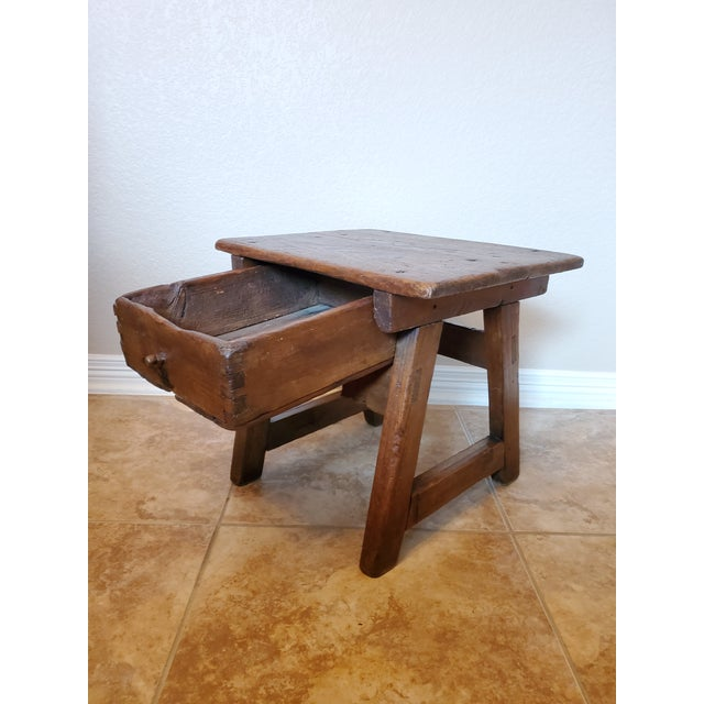 Rustic Early 18th Century Spanish Colonial Rustic Small Table For Sale - Image 3 of 12