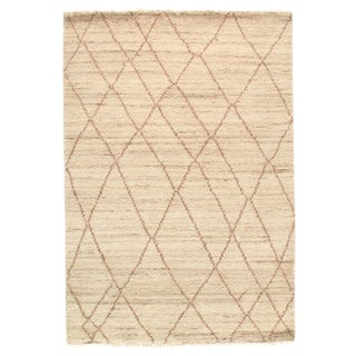 Pasargad N Y Moroccan Hand-Knotted Rug - 4′ × 6′ For Sale