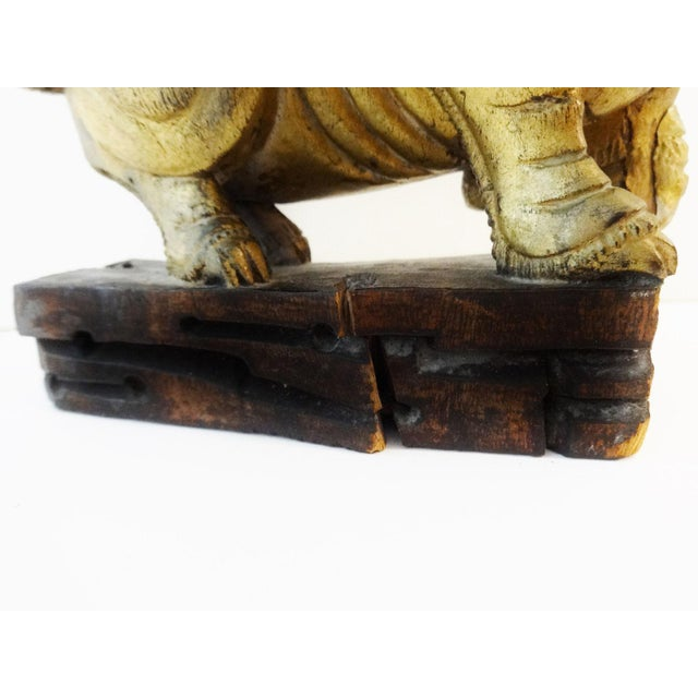 Antique Statue of Temple / Foo Dog For Sale - Image 9 of 9