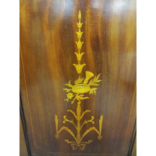 Inlaid Armoire W/ Mirrored Doors - Image 6 of 10