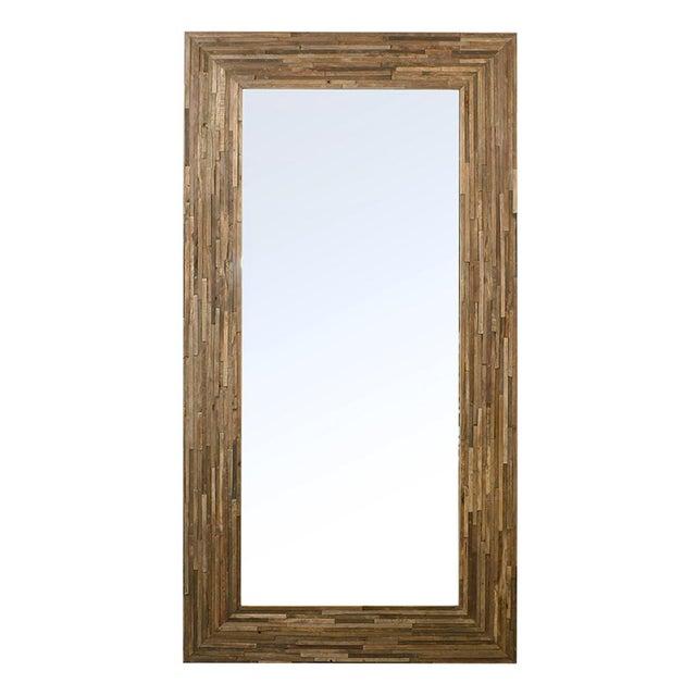 Modern Reclaimed Wood Full Length Mirror For Sale - Image 3 of 3