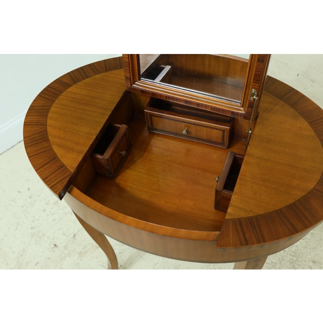 Traditional Maitland Smith Satinwood Adam Style Vanity Table For Sale - Image 3 of 12