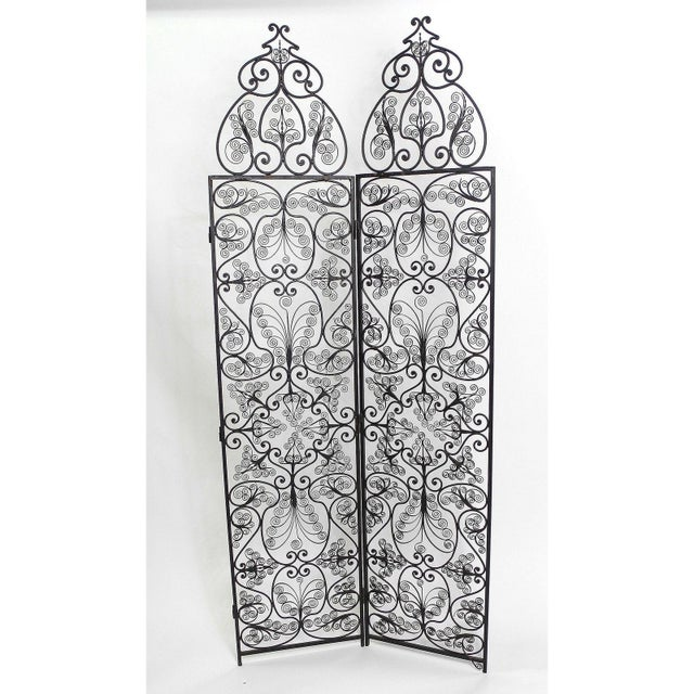 Moroccan Wrought Iron Room Screen - Image 2 of 6