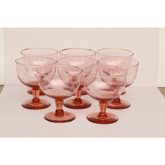 Because it's high time to bring back the ice cream social! This set of eight, pink sherbet glasses will make dessert a...