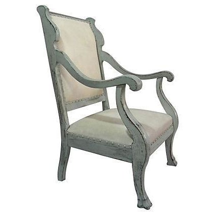 1920s Scrolled Arm Chair - Image 1 of 3