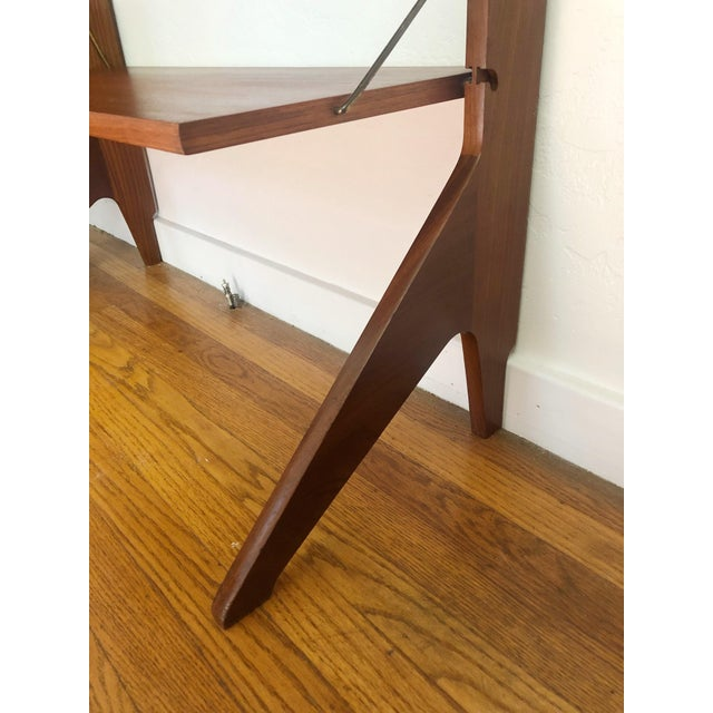 Mid Century Teak Free Standing Wall Unit by Blindheim Møbelfabrikk For Sale - Image 9 of 13